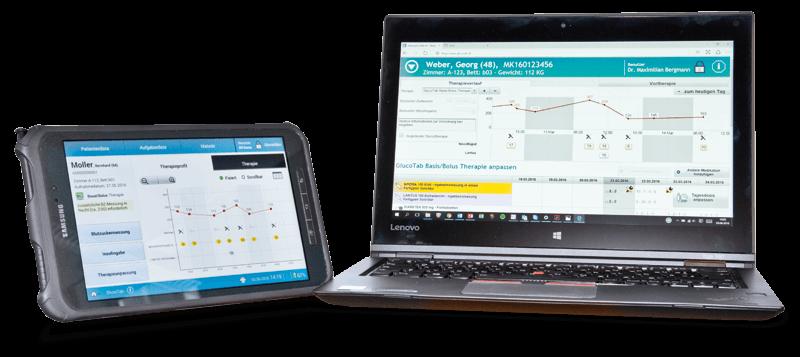 Die Software GlucoTab der decide Clinical Software GmbH